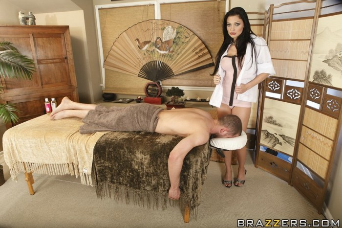 Aletta Ocean Gives A Sexy Massage With A Happy Ending!